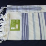 Bareket - A modern tallit in blue, azure and silver