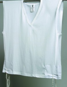 Tallit katan undershirt with tzitzit