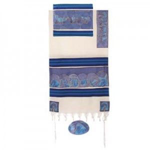 Twelve Tribes Tallit in Blue