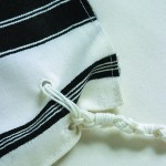 Chabad tallit with double tzitzit holes