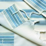 Blue Striped Modern Tallit