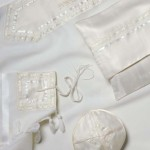 Galilee Silks White Tallit Set - Wool