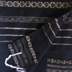 Handmade tallit by Gabrieli - black with gold stripes