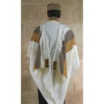 Galilee Tallit with blue and beige striping