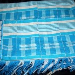 Colorful tallit from Ghana