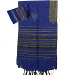 Gabrieli Tallit - royal blue and gold stripes